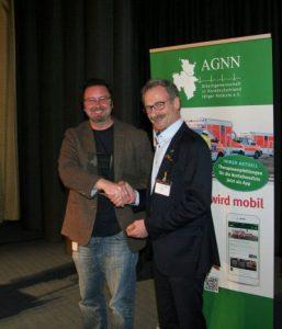 Dr. Thorsten Hess, Preisträger und Dr. Sebastian Wirtz, Vorsitzender der AGNN (v.l.n.r.)
