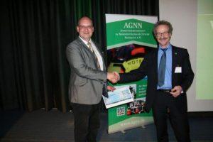 Professor Christian Byhan, Preisträger und Dr. Sebastian Wirtz, Vorsitzender der AGNN (v.l.n.r.)